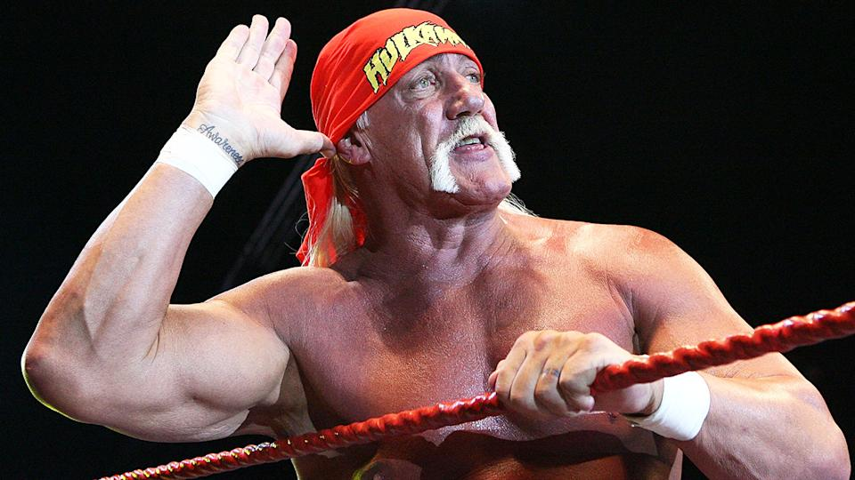 Hulk Hogan, pictured here during his Hulkamania Tour in Perth in 2009.