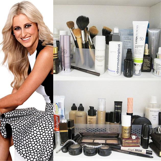 Roxy Jacenko opens up her beauty cupboard for marie claire.