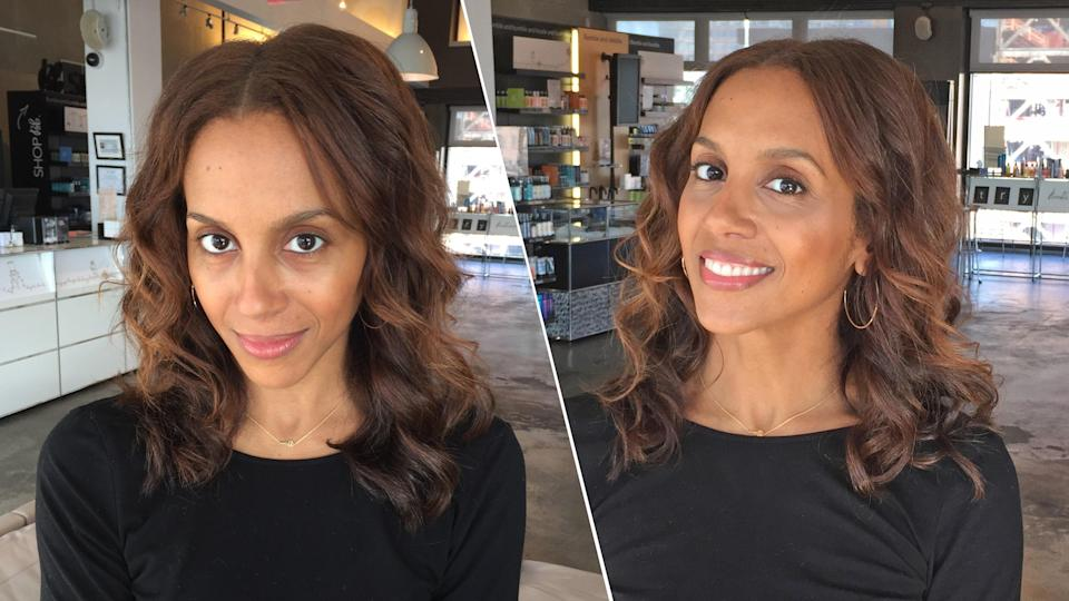 Tester #2: Tia Williams, before and after makeup