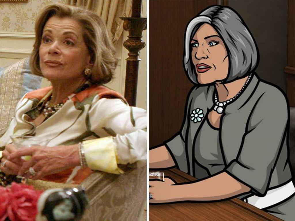 "<strong>Jessica Walter<br />Shows:</strong> ""Arrested Development,"" ""Archer""<br /><br />Of all the sad things about ""Arrested Development"" going off in the air in 2006, maybe the worst was not being able to watch the incomparable Walter on our screens. Things looked up when she joined the voice cast of ""Archer"" as domineering spy mama Malory Archer, and we did a dance of glee when Netflix announced new episodes of ""Arrested"" (available May 26)."