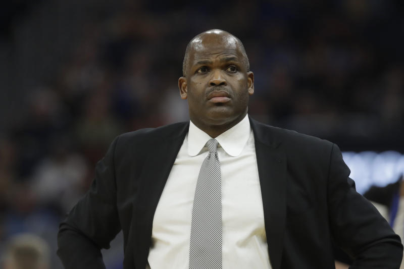 Indiana Pacers head coach Nate McMillan duirng an NBA basketball game against the Golden State Warriors in San Francisco, Friday, Jan. 24, 2020. (AP Photo/Jeff Chiu)