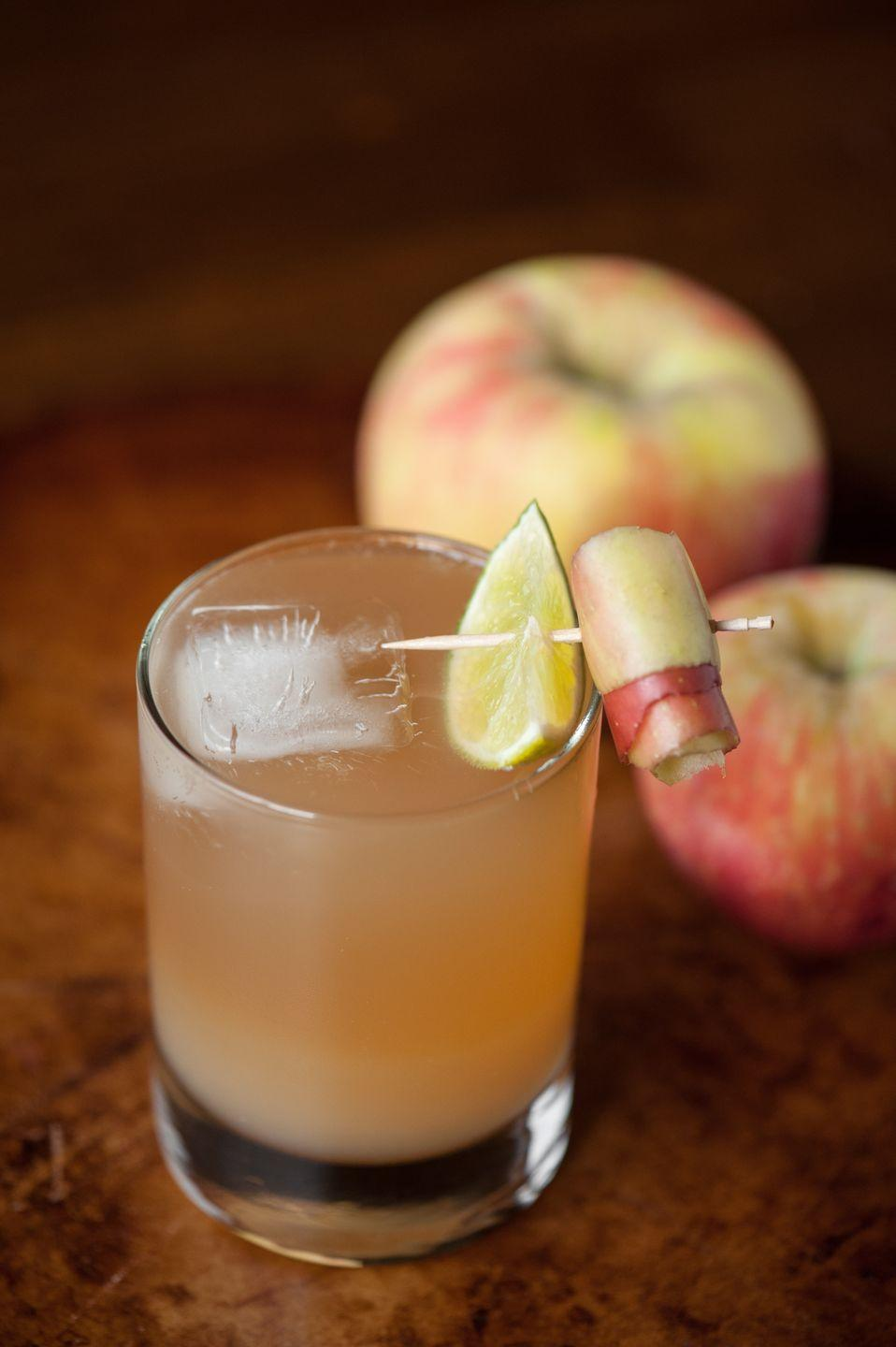 """<p>Ginger beer and apple cider make this bourbon cocktail a perfect autumn delight. It's ideal for both elegant autumn dinner parties or pizza night.<br></p><p><a class=""""link rapid-noclick-resp"""" href=""""https://selfproclaimedfoodie.com/apple-ginger-stone-wall-cocktail/"""" rel=""""nofollow noopener"""" target=""""_blank"""" data-ylk=""""slk:GET THE RECIPE"""">GET THE RECIPE</a></p>"""