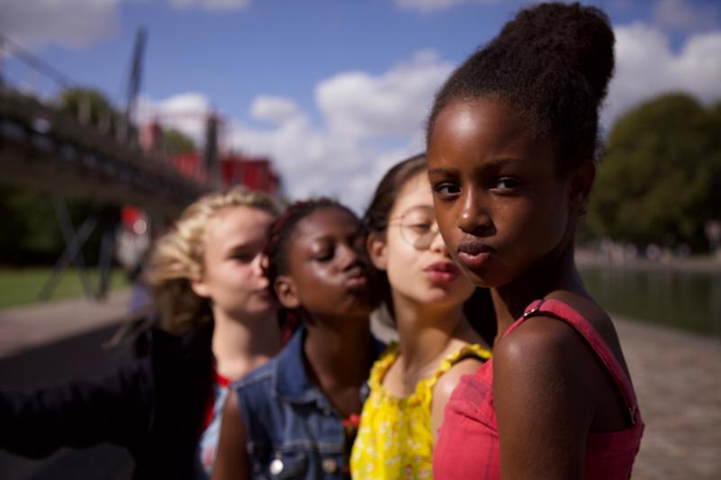 The young cast of 'Cuties,' the controversial French film that's causing #CancelNetflix to trend on Twitter (Photo: Netflix)
