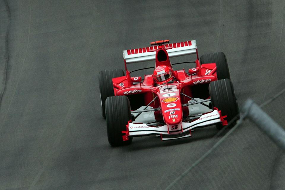 """<p>Leading up to the race, <a href=""""https://www.history.com/this-day-in-history/controversy-at-u-s-grand-prix"""" rel=""""nofollow noopener"""" target=""""_blank"""" data-ylk=""""slk:14 Formula One race car drivers"""" class=""""link rapid-noclick-resp"""">14 Formula One race car drivers</a> withdrew due to safety concerns over their Michelin tires. Racing fans weren't pleased, leading to a dramatic — and highly controversial — win by Michael Schumacher. </p>"""