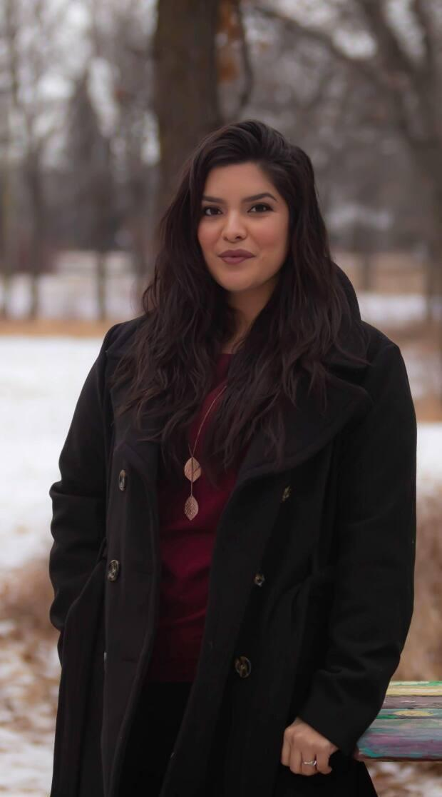 Erica Daniels, who runs Kejic Productions, is a finalist for this year's Powwow Pitch competition. (Shyan Johnson Monkman - image credit)