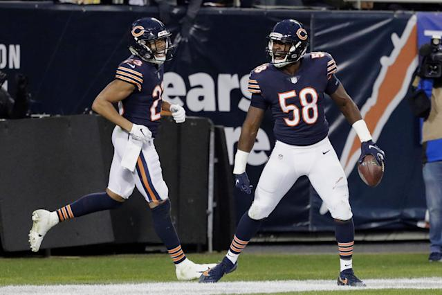 """Can the <a class=""""link rapid-noclick-resp"""" href=""""/nfl/teams/chicago/"""" data-ylk=""""slk:Chicago Bears"""">Chicago Bears</a> defense repeat as the top of the fantasy crop? (AP Photo/Nam Y. Huh)"""