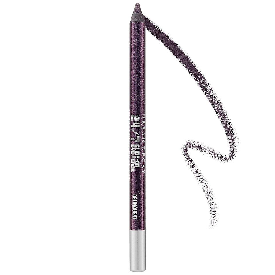 """<p><strong>Urban Decay</strong></p><p>sephora.com</p><p><strong>$22.00</strong></p><p><a href=""""https://go.redirectingat.com?id=74968X1596630&url=https%3A%2F%2Fwww.sephora.com%2Fproduct%2F24-7-glide-on-eye-pencil-P133707&sref=https%3A%2F%2Fwww.harpersbazaar.com%2Fbeauty%2Fmakeup%2Fg34670724%2Fsephora-black-friday-deals-2020%2F"""" rel=""""nofollow noopener"""" target=""""_blank"""" data-ylk=""""slk:Shop Now"""" class=""""link rapid-noclick-resp"""">Shop Now</a></p><p>Creamy and blendable eyeliner pencils have been the unsung hero of quarantine makeup; they're easy enough to dab on before a last-minute call, and so much simpler than a cat-eye. If this one from Urban Decay is marked down during the sale, it's time to get every color.</p>"""