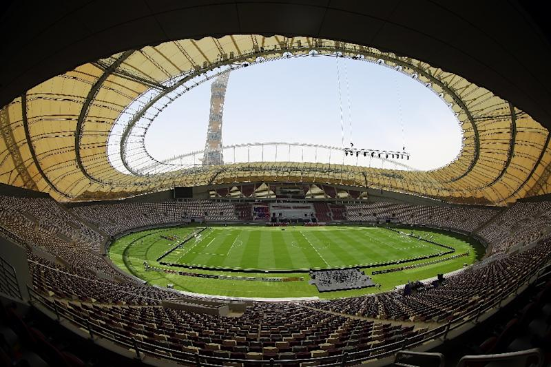 """The Khalifa International Stadium in Doha after it was refurbished ahead of the Qatar 2022 FIFA World Cup. Work practices at the stadium construction site where a British worker died last year were """"downright dangerous"""", a coroner in Britain found"""