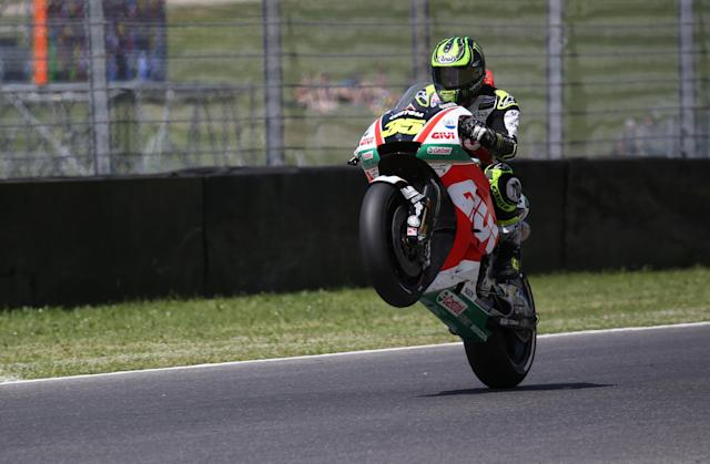 Motorcycling - MotoGP - Italian Grand Prix - Mugello Circuit, Scarperia, Italy - June 2, 2018 LCR Honda CASTROL's Cal Crutchlow during qualifying REUTERS/Alessandro Bianchi