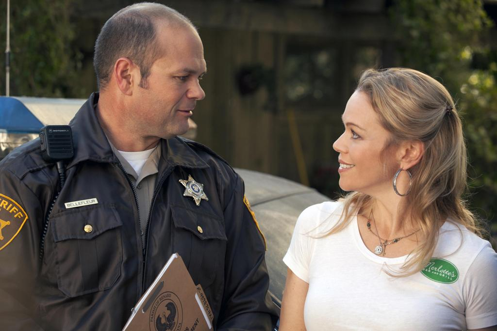 Chris Bauer as Andy Bellefleur and Lauren Bowles as Holly Cleary
