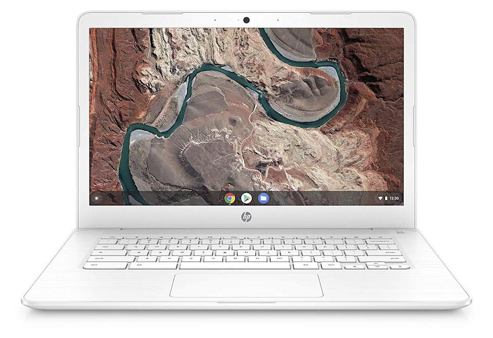 The HP Chromebook 14 comes in three colors: white, blue and gray. (Photo: Walmart)