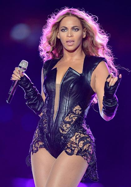 FILE - In this Feb. 3, 2013 file photo, recording artist Beyonce performs at Super Bowl XLVII, in New Orleans. This year's Super Bowl performer will Bruno Mars. (Photo by Jordan Strauss/Invision/AP, File)