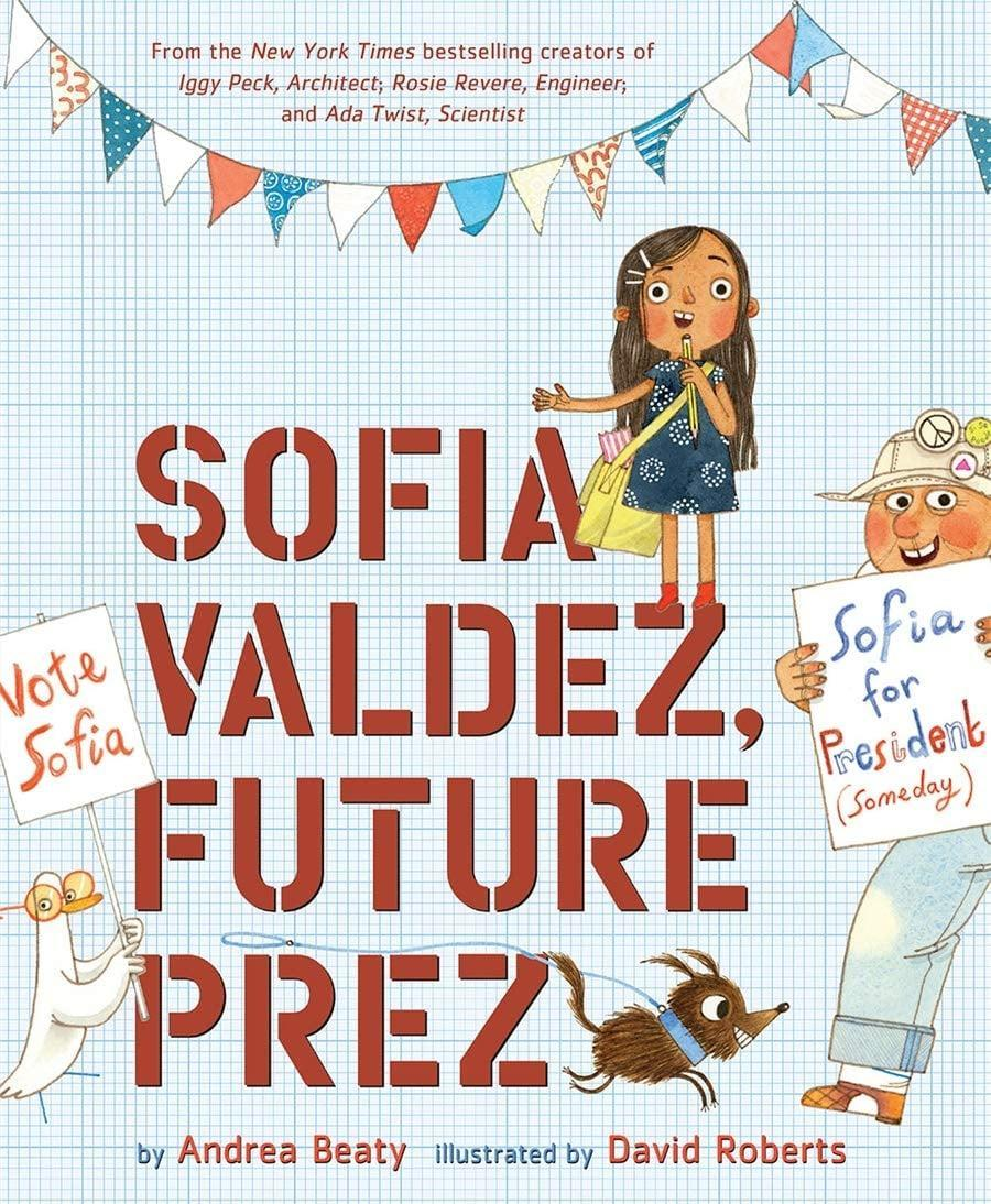 "<p>Sofia and her abuelo inspire young change-makers everywhere as she navigates the local government to make changes in her town in <b><a href=""https://www.popsugar.com/buy/Sofia-Valdez-Future-Prez-579395?p_name=Sofia%20Valdez%2C%20Future%20Prez&retailer=amazon.com&pid=579395&evar1=moms%3Aus&evar9=47521156&evar98=https%3A%2F%2Fwww.popsugar.com%2Fphoto-gallery%2F47521156%2Fimage%2F47521539%2FAges-2-4-Sofia-Valdez-Future-Prez&prop13=api&pdata=1"" class=""link rapid-noclick-resp"" rel=""nofollow noopener"" target=""_blank"" data-ylk=""slk:Sofia Valdez, Future Prez"">Sofia Valdez, Future Prez</a></b> ($10).</p>"