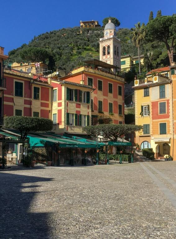 "An empty Piazza Martiri dell'Olivetta in Portofino. ""In 2020, we had the worst year in a decade,"" sighed Emanuela Cattaneo, owner of a wine bar on the port."