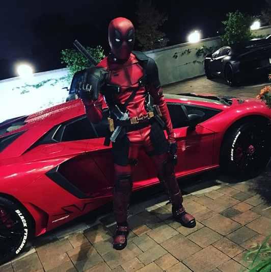 "<p>Look out, Ryan Reynolds? The rapper went all out with his <i>Deadpool</i> costume, complete with red-hot wheels. The costume, of course, included a gun — though the timing is a <a href=""https://www.yahoo.com/celebrity/chris-brown-released-jail-posting-081200449.html"" data-ylk=""slk:little awkward;outcm:mb_qualified_link;_E:mb_qualified_link"" class=""link rapid-noclick-resp newsroom-embed-article"">little awkward</a> on that. But, hey, that's Chris Brown! (Photo: Instagram) </p>"