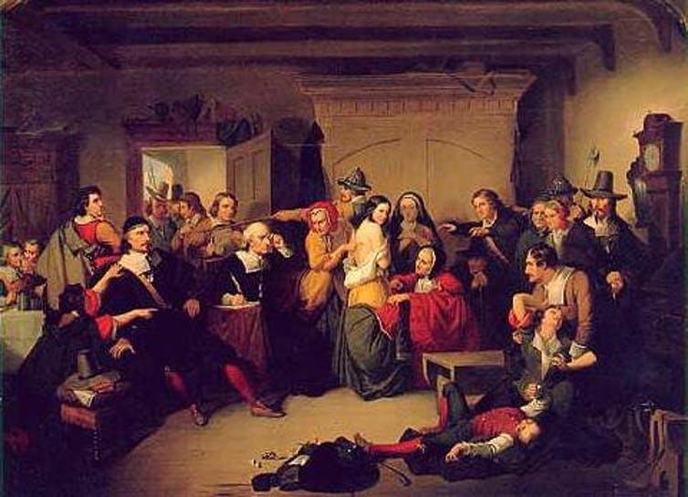 """<span class=""""caption"""">Examination of a Witch.</span> <span class=""""attribution""""><span class=""""source"""">T. H. Matteson</span></span>"""
