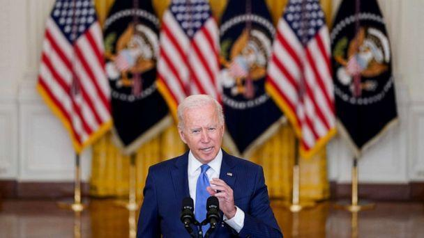 PHOTO: President Joe Biden delivers remarks on the economy in the East Room of the White House, Sept. 16, 2021, in Washington. (Evan Vucci/AP)