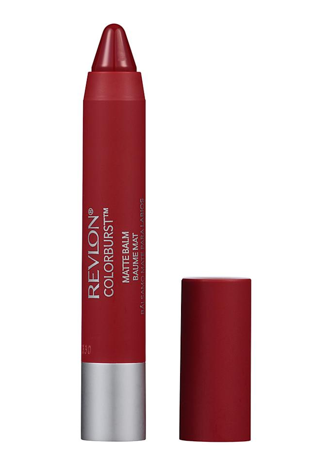 "Revlon ColorBurst Matte Balm in Fiery, $6.89; at <a rel=""nofollow"" href=""http://www.target.com/p/revlon-colorburst-matte-balm-255-enchanting-095-oz/-/A-49104860?ref=tgt_adv_XS000000&AFID=google_pla_df&CPNG=PLA_Health+Beauty+Shopping&adgroup=SC_Health+Beauty&LID=700000001170770pgs&network=s&device=c&location=9060351&gclid=CJWm_5Xw59ICFduNswodo64GcQ&gclsrc=aw.ds"" rel="""">Target</a>"