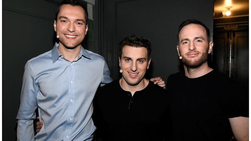 Undated handout image of Airbnb Founders: Brian Chesky, Nathan Blecharczyk, Joe Gebbia