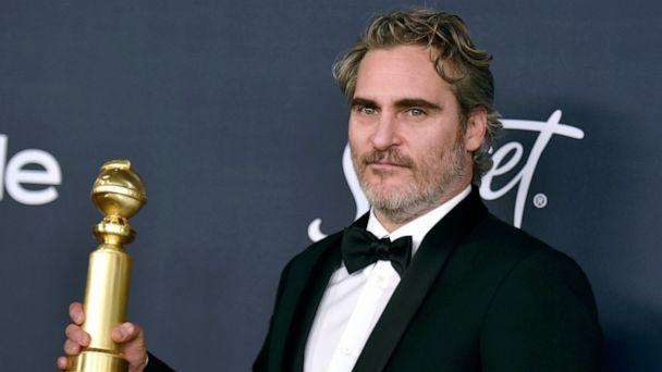 PHOTO: Joaquin Phoenix, winner of the award for best performance by an actor in a motion picture drama for 'Joker,' arrives at the InStyle and Warner Bros. Golden Globes afterparty at the Beverly Hilton Hotel, Jan. 5, 2020, in Beverly Hills, Calif. (Richard Shotwell/Invision/AP)