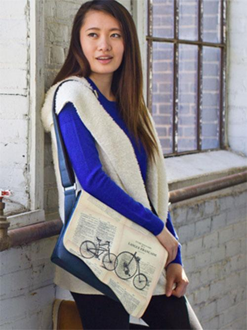 """<p>This eco-friendly <a rel=""""nofollow noopener"""" href=""""https://espe.ca/index.php"""" target=""""_blank"""" data-ylk=""""slk:Canadian-designed brand"""" class=""""link rapid-noclick-resp"""">Canadian-designed brand</a> believes in pushing the innovation boundaries when creating their cruelty free vegan couture. ESPE uses sustainable materials such as durable synthetic polyurethane leather that is ethically sourced. They are passionate about constructing the latest fashionable products and are another company that is vegan approved by PETA. Their products, designed in a Toronto studio, change seasonally and are available online, throughout Canada in retail stores, and as far away as France and Switzerland. <a rel=""""nofollow noopener"""" href=""""https://espe.ca/eshop/product_detail.php?pcode=h-02423-u&ptype=H"""" target=""""_blank"""" data-ylk=""""slk:Bicycle Messenger Bag"""" class=""""link rapid-noclick-resp"""">Bicycle Messenger Bag</a>, $84) </p>"""