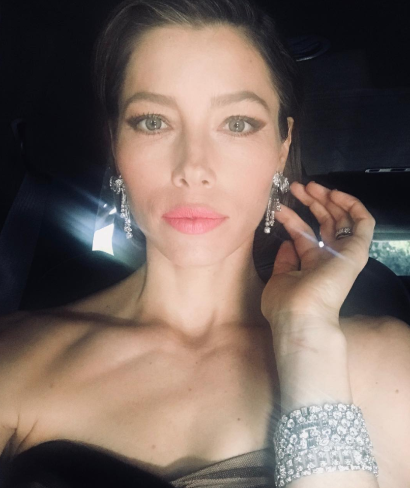 "<p>""Just me and a bunch of my sparkly best friends cruising to the #goldenglobes,"" Biel captioned this glam pic. ""Thank you to @bulgariofficial for making me shine!"" (Photo: <a rel=""nofollow"" href=""https://www.instagram.com/p/Bdqo8pkFl0R/?hl=en&taken-by=jessicabiel"">Jessica Biel via Instagram</a>) </p>"