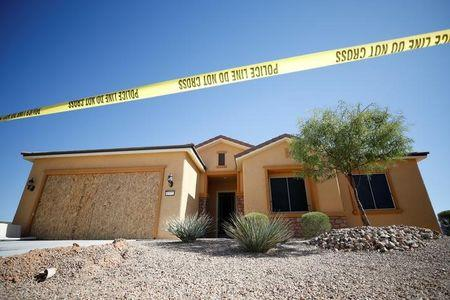 The home of Stephen Paddock is pictured in Mesquite