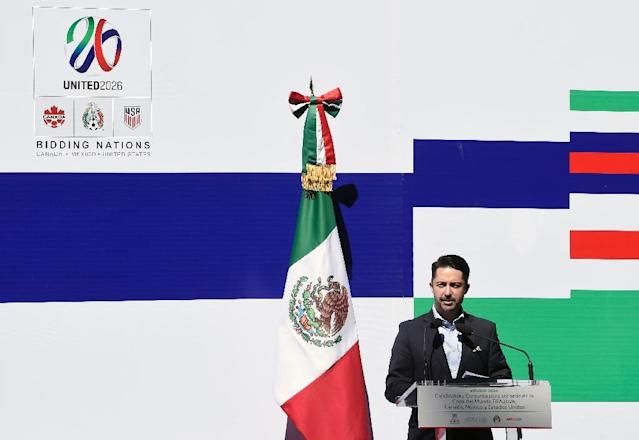 The United States, Mexico and Canada announced a joint bid to stage the 2026 World Cup on Monday, aiming to become the first three-way co-hosts in the history of FIFA's showpiece tournament (AFP Photo/ALFREDO ESTRELLA)