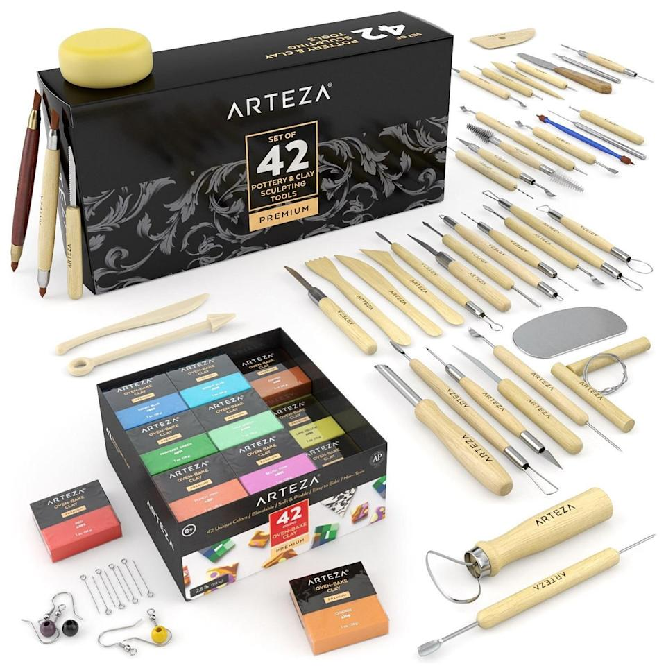 Polymer Clay Kit Set Crafty Clay Bundle, $13.91