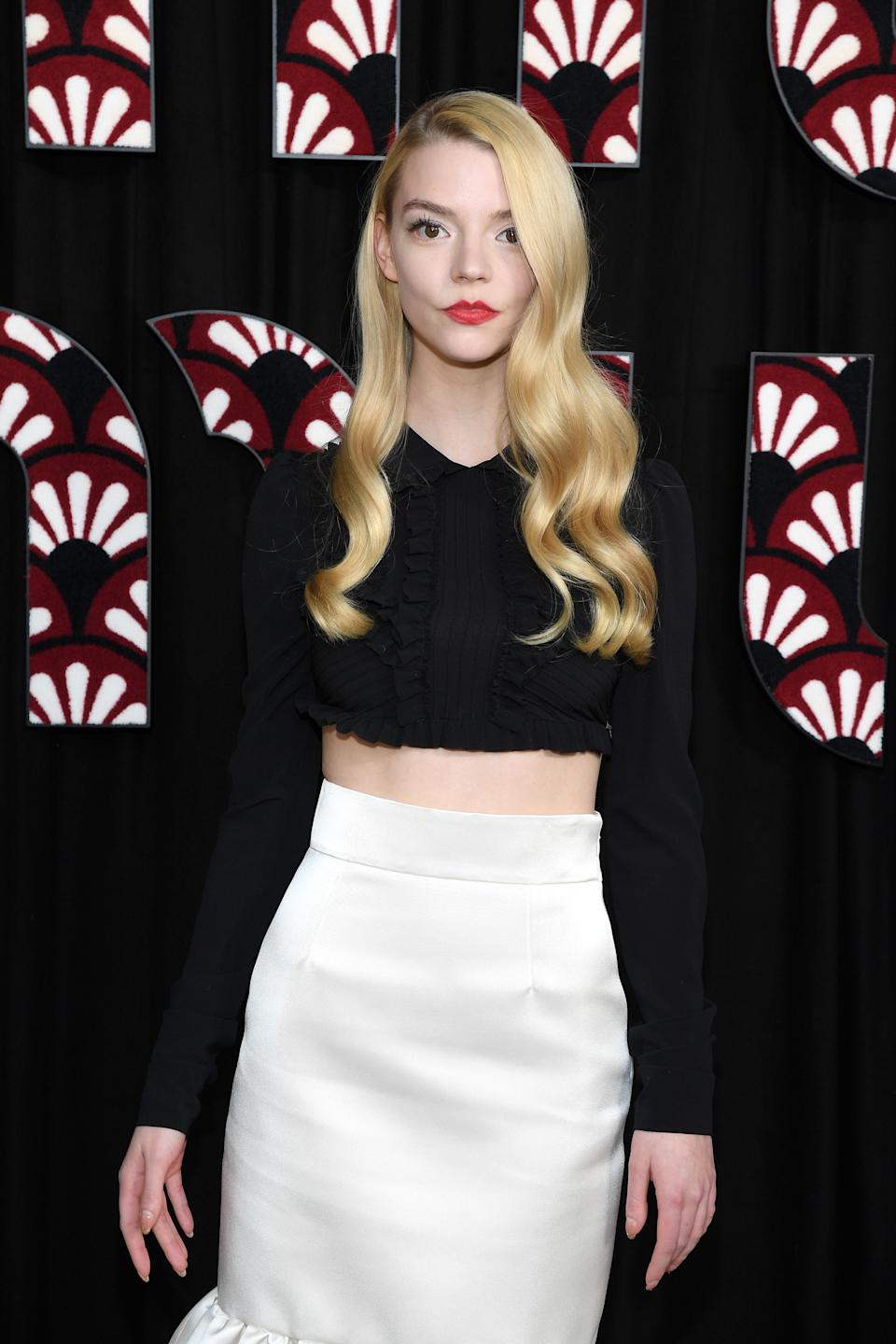 Anya Taylor-Joy didn't enjoy seeing herself on the big screen at first. (Photo by Pascal Le Segretain/Getty Images)