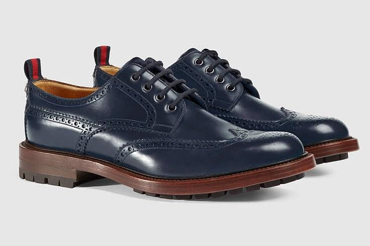 """<p><em>$950, <a rel=""""nofollow"""" href=""""https://www.gucci.com/us/en/pr/men/mens-shoes/mens-lace-ups/leather-lace-up-with-web-p-428597DKG204060?mbid=synd_yahoostyle"""">gucci.com</a></em></p><p><a rel=""""nofollow"""" href=""""http://www.gq.com/gallery/best-sneakers-of-2016-so-far?mbid=synd_yahoostyle"""">RELATED: The Best Sneakers of 2016</a></p>"""