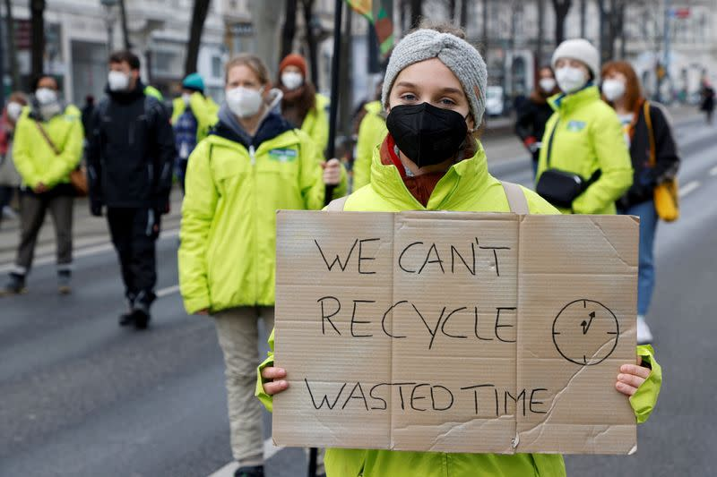 "FILE PHOTO: Fridays for Future activists protest in Vienna as part of ""Global Day of Climate Action\"