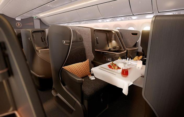 Turkish Airlines' new business class offers elevated meals from an onboard chef.