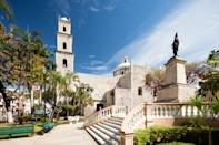 """The capital of the Mexican <a href=""""https://www.cntraveler.com/stories/2015-02-20/waris-ahluwalia-cancun-yucatan-peninsula-mexico?mbid=synd_yahoo_rss"""" rel=""""nofollow noopener"""" target=""""_blank"""" data-ylk=""""slk:state of Yucatán"""" class=""""link rapid-noclick-resp"""">state of Yucatán</a> is also the <a href=""""https://www.cntraveler.com/story/a-tour-of-merida-mexicos-most-creative-and-affordable-city?mbid=synd_yahoo_rss"""" rel=""""nofollow noopener"""" target=""""_blank"""" data-ylk=""""slk:cultural capital of the peninsula of the same name"""" class=""""link rapid-noclick-resp"""">cultural capital of the peninsula of the same name</a>, blending two important parts of Mexico's history, the Mayan culture and its colonial past. The inland city draws tourists seeking a bit of a slower-paced vacation than what you'd find at the bustling all-inclusive beach resorts of Cancun and the Riviera Maya. In Mérida, travelers delight in culinary, cultural, and creative experiences—and chatting it up with the friendly locals, who have earned their city the third spot on our list."""