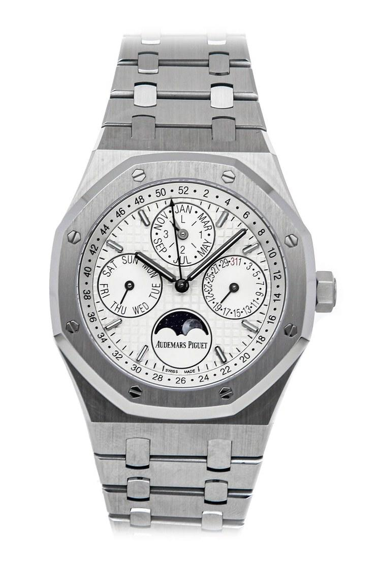 The Audemars Piguet Royal Oak Perpetual calendar dealers are hoarding because Mayer wore the piece in GQ.