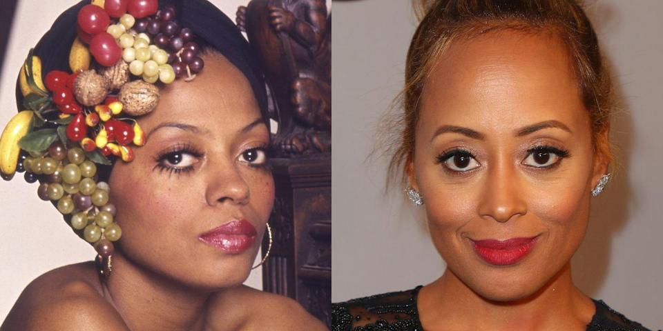 <p>Actress Essence Atkins is almost identical to Diana Ross, with a diamond-shaped face, high cheekbones, and large round eyes. </p>