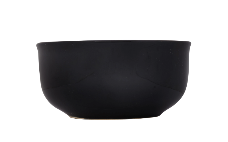 Royal Norfolk Classic Black Stoneware Bowls, 6 in. (Photo: Dollar Tree)
