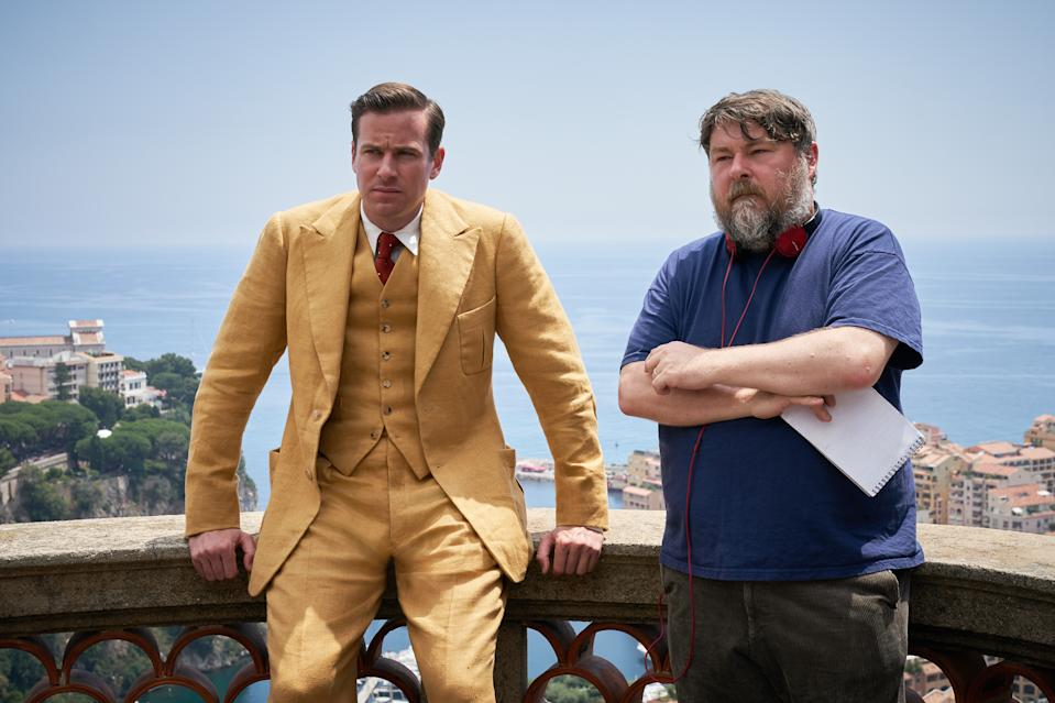 Rebecca (L to R) Armie Hammer as Maxim de Winter, Director Ben Wheatley, Cr. KERRY BROWN/NETFLIX