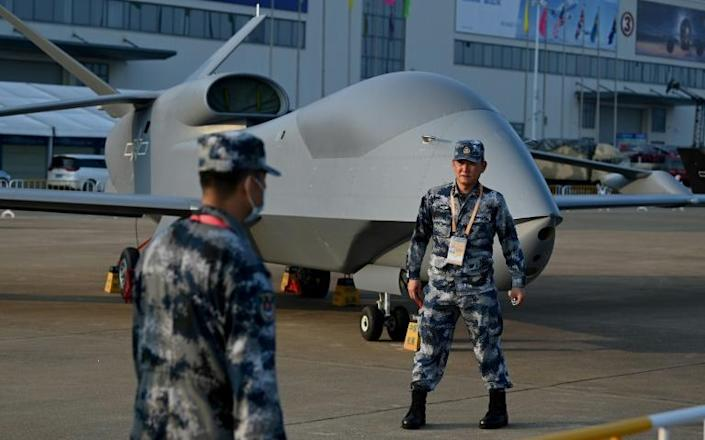 China's WZ-7 high-altitude drone for border reconnaissance and maritime patrol has already entered service with the air force, according to state media (AFP/Noel Celis)