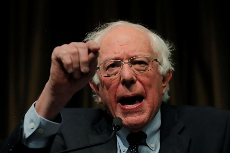 U.S. 2020 Democratic presidential candidate and U.S. Senator Bernie Sanders (I-VT), speaks at the 2019 National Action Network National Convention in New York April 5, 2019. (Photo: Lucas Jackson/Reuters)