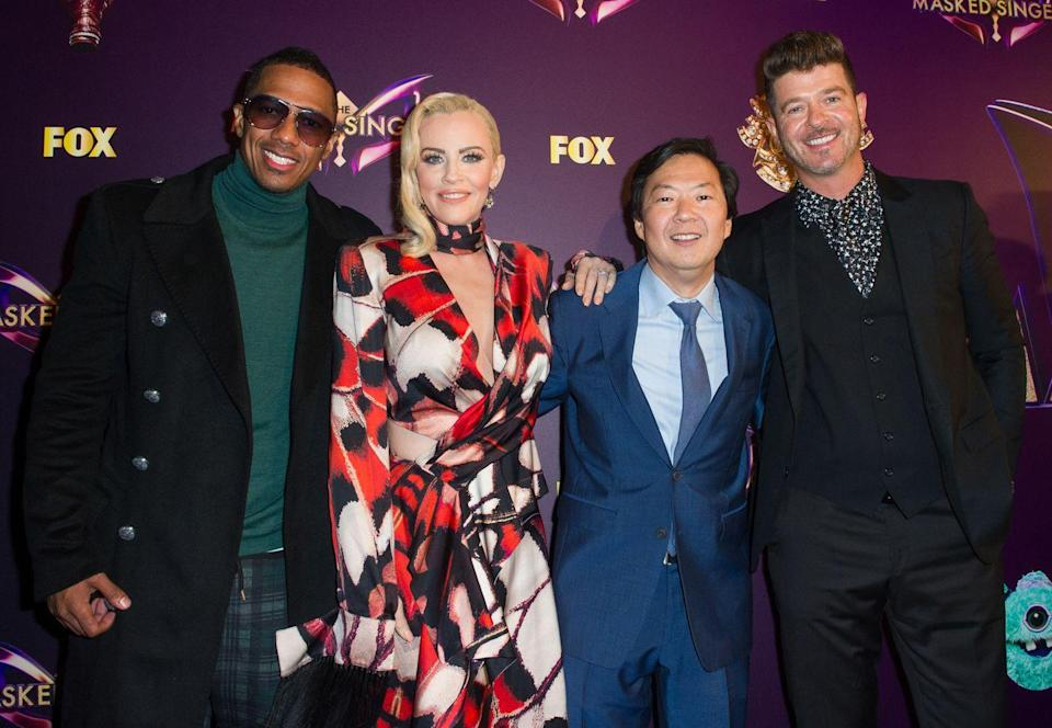"""<p>Executive producer Craig Plestis told <a href=""""https://www.cinemablend.com/television/2547397/the-masked-singer-producer-reveals-behind-the-scenes-secrets-about-judges-guessing"""" rel=""""nofollow noopener"""" target=""""_blank"""" data-ylk=""""slk:CinemaBlend"""" class=""""link rapid-noclick-resp"""">CinemaBlend</a> that each judge is given a binder to write down clues and guesses. """"When the cameras aren't on them they're taking copious notes. They're writing down the clues—they're very competitive and they all want to get it right,"""" he said.</p>"""