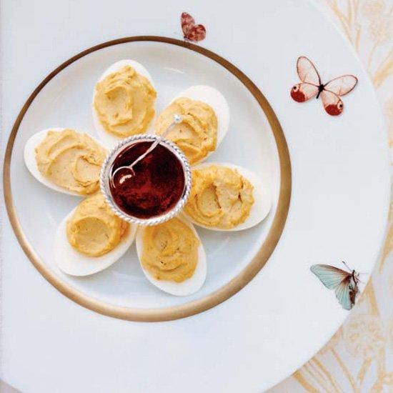 "<p>This classic version is made with two kinds of mustard and served with paprika.</p><p><a href=""https://www.foodandwine.com/recipes/classic-deviled-eggs"">GO TO RECIPE</a></p>"