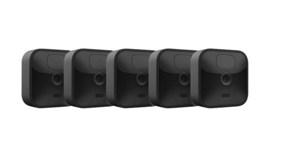 Blink Outdoor Wire-Free 1080p IP Security Camera System - 5-Pack - Black