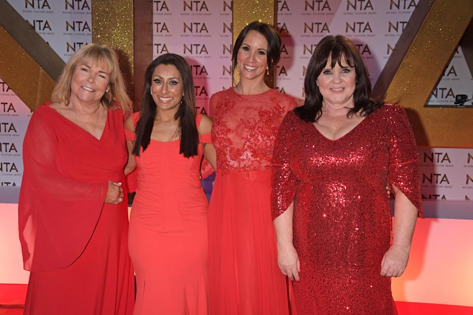 Linda Robson, Saira Khan, Andrea McLean and Coleen Nolan attend the National Television Awards 2020 at The O2 Arena on January 28, 2020 in London, England. (Photo by David M. Benett/Dave Benett/Getty Images)
