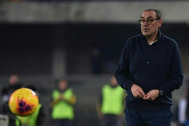 Juventus coach Maurizio Sarri will be looking for a home boost over Brescia after poor away form (AFP Photo/MARCO BERTORELLO)