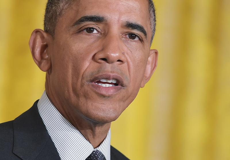 US President Barack Obama speaks on January 30, 2015 in the East Room of the White House in Washington, DC