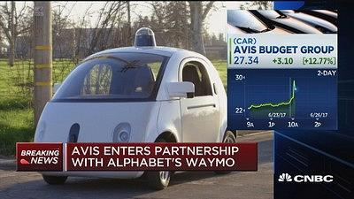 CNBC's Deirdre Bosa reports the latest on Avis entering a partnership with Alphabet's Waymo.