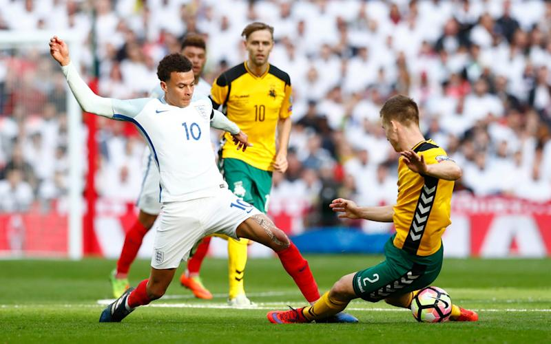 Alli was targeted by the Lithuanian midfield - Credit: Reuters / Eddie Keogh