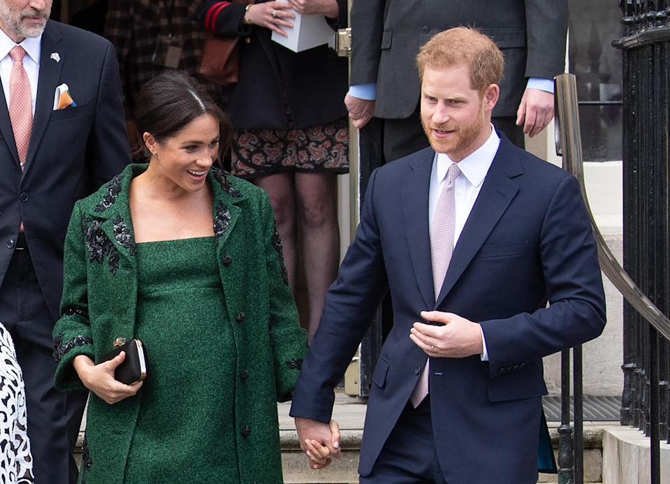 The Duke and Duchess of Sussex at Canada House last month [Photo: PA]