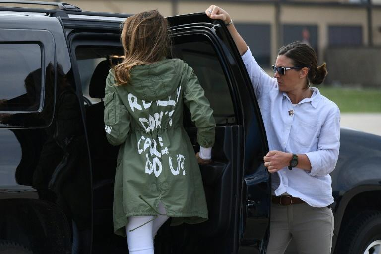 Melania Trump courted controversy when she wore a jacket for a June 2018 trip to Texas with the phrase 'I REALLY DON'T CARE, DO U?' on the back